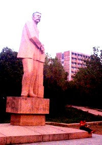 The statue of Maxim Gorky from which Gorky Park derives its name.