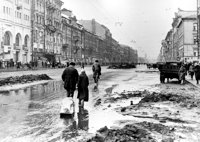 In besieged Leningrad