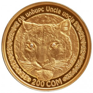 The Snow Leopard 10 som gold coin