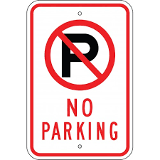 Surely the pedestrian pathways of a park should be designated as 'No Parking' zones