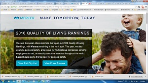 Mercer'sQuality of Life Index