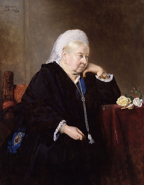 Queen Victoria, by Bertha Müller after Heinrich von Angeli