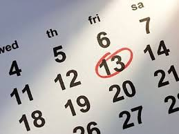 Not exactly a 'red letter day : Friday 13th ... unlucky for some