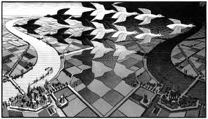 Day and Night by MC Escher