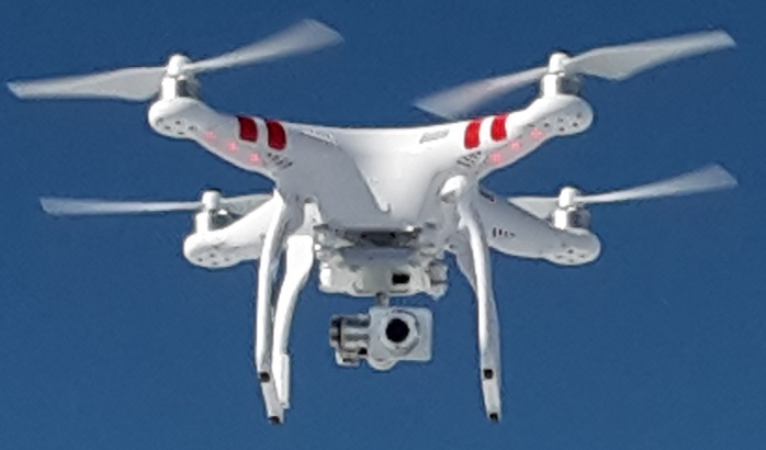 A DJI Phantom UAV (Drone) used for commercial and recreational aerial photography ... Photo by Capricorn4049 on Wikipedia